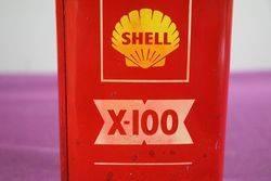 Shell X100 1 Litre Motor Oil Tin