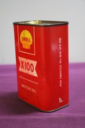 Shell X100 1 Litre Motor Oil Tin