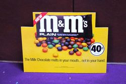 Small M&Ms Advertising Card