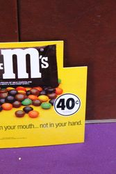 Small MandMs Advertising Card