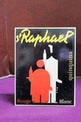 St Raphael Wine Adverting Sign.