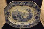 Superb Blue + White Platter C1850