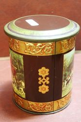 The Hunt Pictorial Tin Tea Caddy