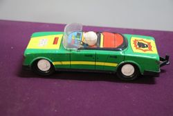 Tin Plate Toy Car Gurel Sanayi Taunus  Made In Turkey