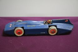 Vintage CK Trademark Wind Up Tin Toy Car Made In Japan