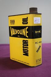 Valvoline Premium Motor Oil Tin
