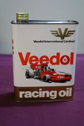 Veedol Racing 2 Litres Motor Oil Tin with Contents.
