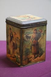 Antique Victorian Pictorial Carr Biscuit Tin
