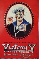 Victory andquotVandquot Gums and Lozenges Tin