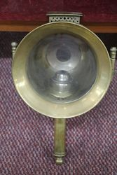 Antique Pair of Brass Carriage Lamps