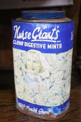 Vintage Nurse Grantand39s Clear Digestive Mints Tin