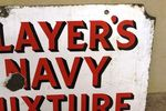 Vintage Players Weights Double Sided Enamel Sign