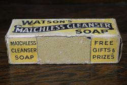 Vintage Watsonand39s Matchless Cleanser Soap