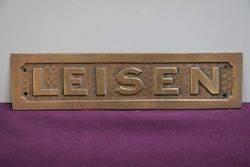 "Brass ""Leisen"" House Sign"